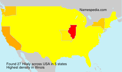 Surname Hilaly in USA