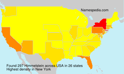 Surname Himmelstein in USA