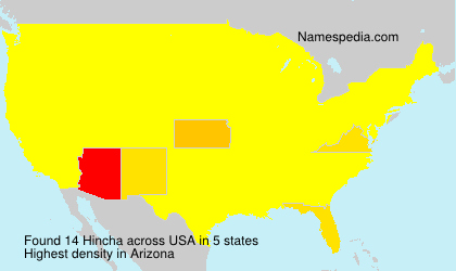 Familiennamen Hincha - USA