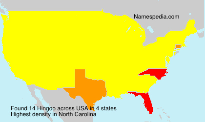 Surname Hingoo in USA
