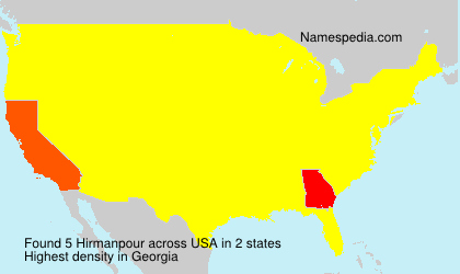 Surname Hirmanpour in USA