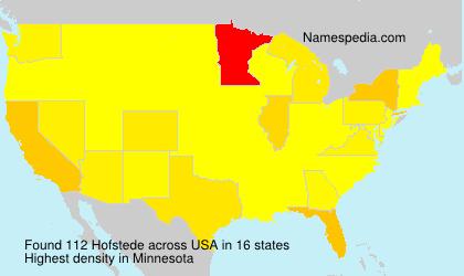 Surname Hofstede in USA