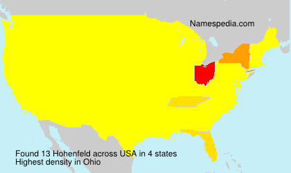 Surname Hohenfeld in USA