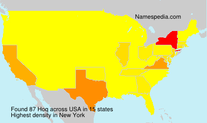 Surname Hoq in USA