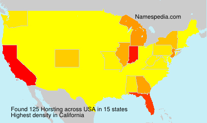 Surname Horsting in USA
