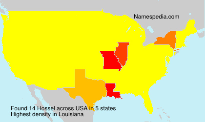 Surname Hossel in USA