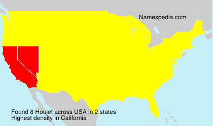 Surname Houlet in USA