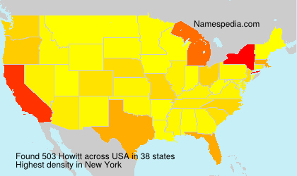 Surname Howitt in USA