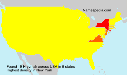 Surname Hryvniak in USA