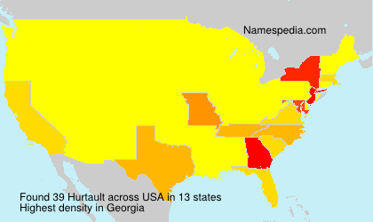 Surname Hurtault in USA
