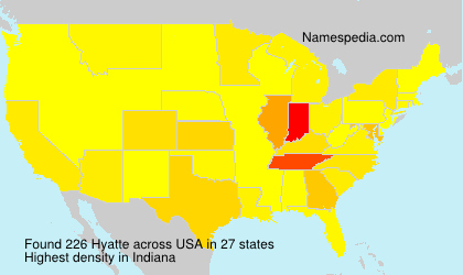 Surname Hyatte in USA