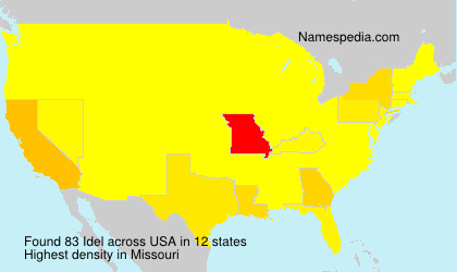 Surname Idel in USA