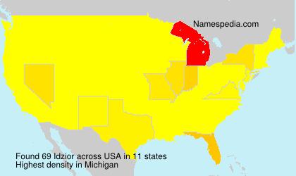 Surname Idzior in USA