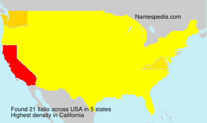 Surname Ilalio in USA