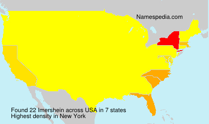 Surname Imershein in USA