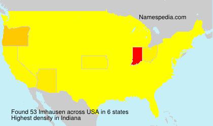 Familiennamen Imhausen - USA