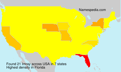 Surname Imray in USA