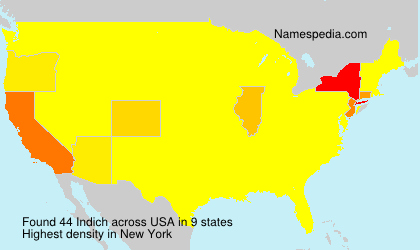 Surname Indich in USA