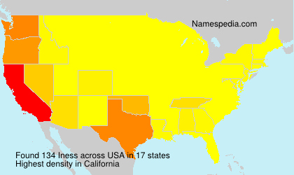 Surname Iness in USA
