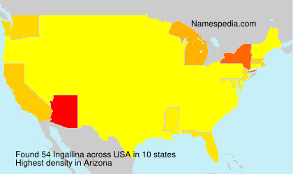 Surname Ingallina in USA