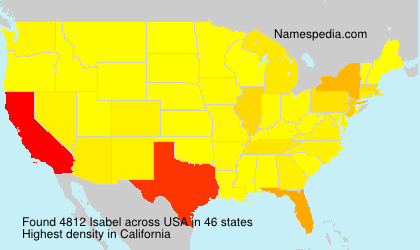 Surname Isabel in USA