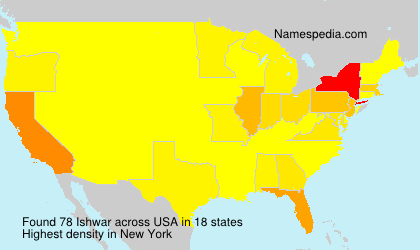 Surname Ishwar in USA