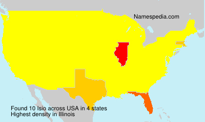 Surname Isio in USA