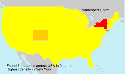 Surname Istafanos in USA