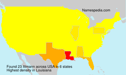Surname Ittmann in USA