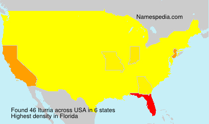 Surname Iturria in USA