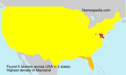 Surname Iwarere in USA