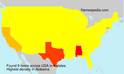 Familiennamen Iwers - USA