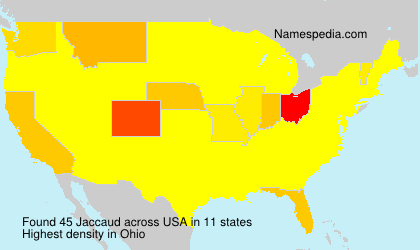 Surname Jaccaud in USA