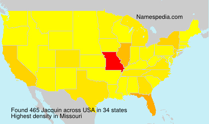 Surname Jacquin in USA