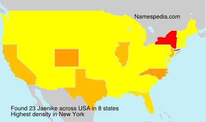 Surname Jaenike in USA