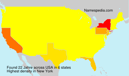 Surname Jahre in USA
