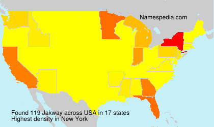 Surname Jakway in USA