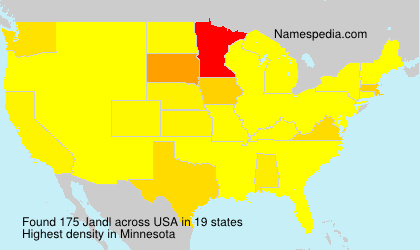 Surname Jandl in USA