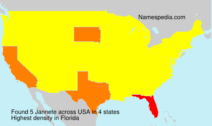 Surname Jannete in USA