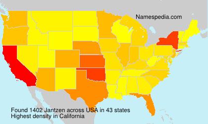 Familiennamen Jantzen - USA