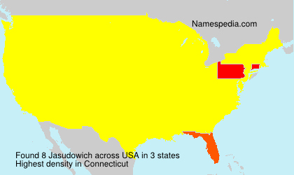 Surname Jasudowich in USA
