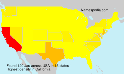 Surname Jau in USA