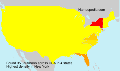 Surname Jaufmann in USA