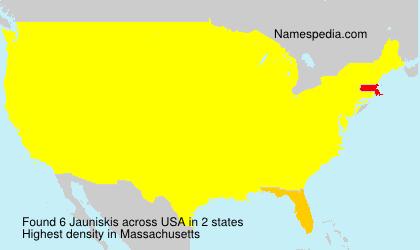Surname Jauniskis in USA