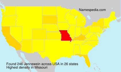 Familiennamen Jennewein - USA