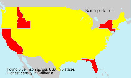 Surname Jennson in USA
