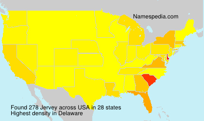 Surname Jervey in USA