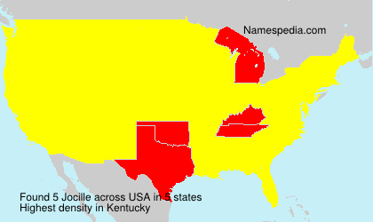 Surname Jocille in USA