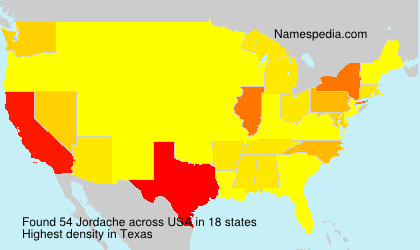 Surname Jordache in USA
