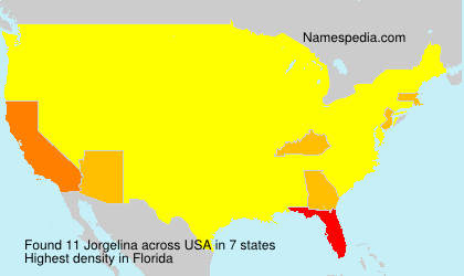 Surname Jorgelina in USA